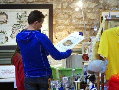 Browsing at the Cirencester Antiques & Collectables Market